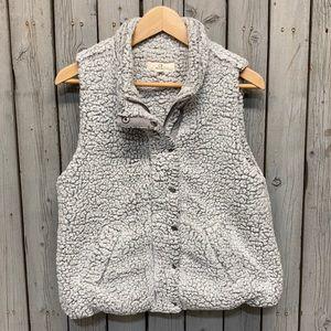 Anthro- Thread & Supply Sherpa Vest